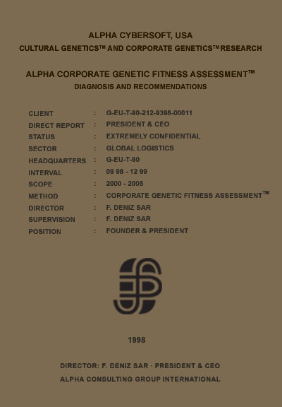 F. Deniz Sar - F. Deniz Şar - Corporate Genetic Fitness Assessment (TM)