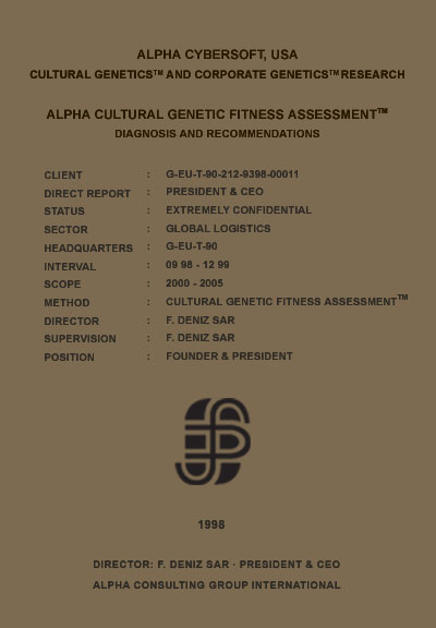 F. Deniz Sar - F. Deniz Şar - Cultural Genetic Fitness Assessment (TM)
